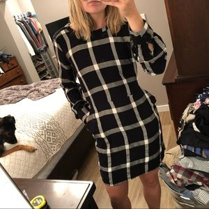 a new day Plaid Flannel Dress